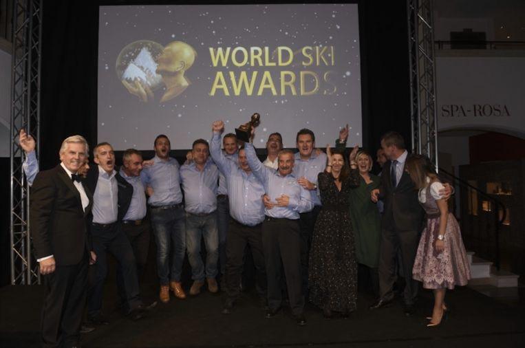 De prijsuitreiking van de World Ski Awards in het Oostenrijkse Kitzbühel.