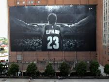Megaspandoek LeBron James in Cleveland verdwijnt