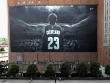 Megaspandoek LeBron James in Cleveland verdwijnt