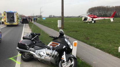 Motard kritiek en bejaarde fietsster zwaargewond