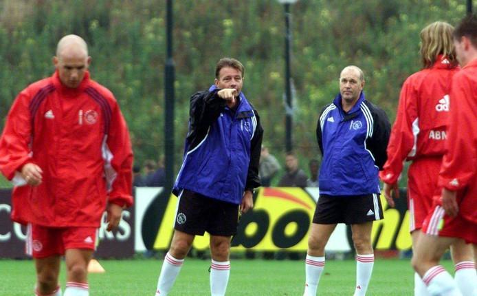 Van Halst (links) en Adriaanse in hun gezamenlijke periode bij Ajax.