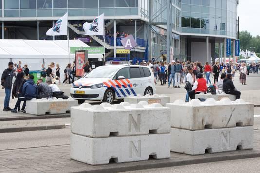 Veiligheisdmaatregelen bij de EO Jongerendag.