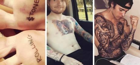 Boterhampasta en een geslagen vrouw: de meest bizarre celeb-tattoos