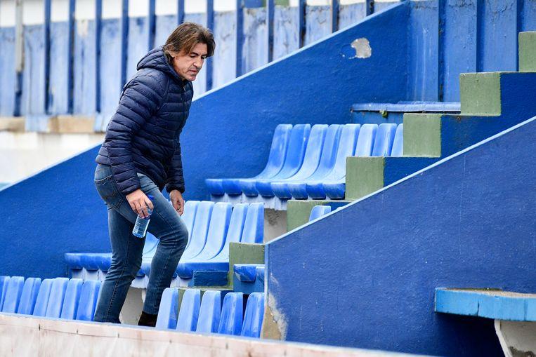Sá Pinto werd bij de 1-0 voor Düsseldorf naar de tribunes verwezen.