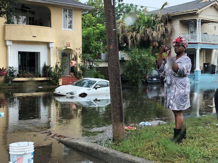 New Orleans werd al zwaar getroffen.