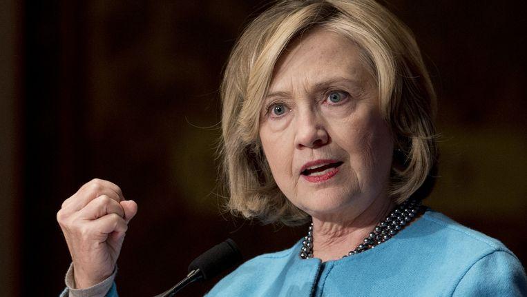 Hillary Clinton in december 2014 tijdens een speech op de universiteit van Georgetown. Beeld Carolyn Kaster / AP