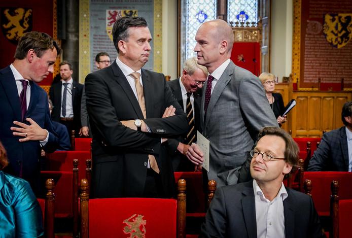 2017-09-19 12:44:38 DEN HAAG - Emile Roemer en Gert-Jan Segers op Prinsjesdag in de Ridderzaal tijdens de troonrede van koning Willem-Alexander. ANP ROYAL IMAGES REMKO DE WAAL