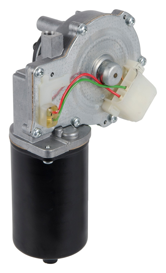 Motor die DAF gebruikt voor de aandrijving van ruitenwissers van een vrachtwagen.