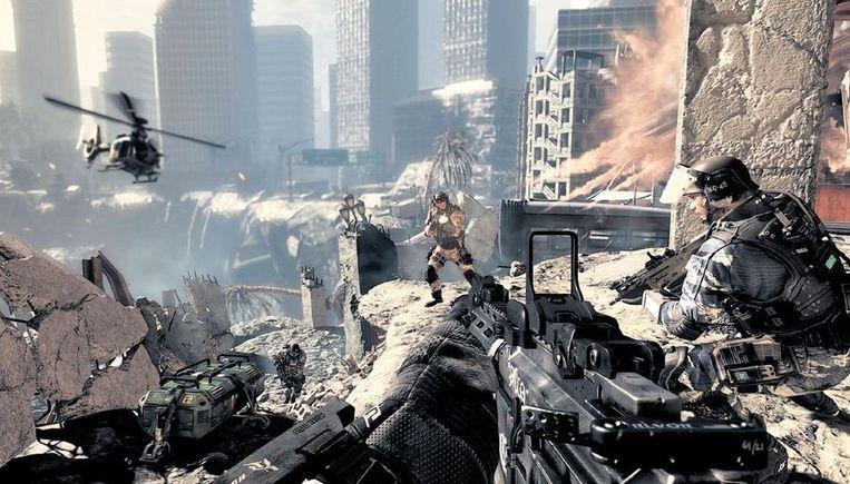 'Call of Duty' is een serie computerspellen waarin de speler in de huid kruipt van een soldaat. Beeld Colourbox