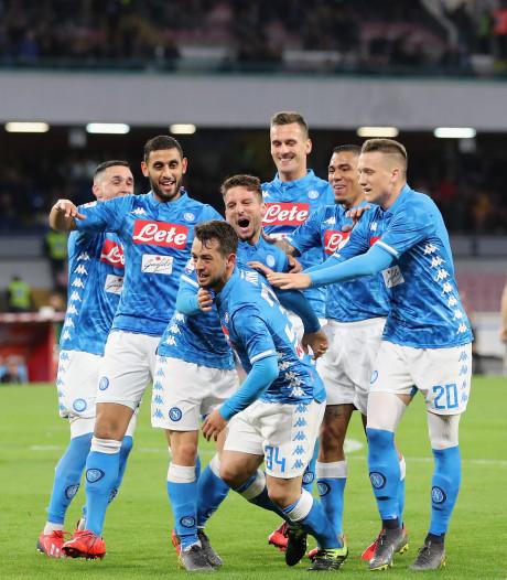 Mertens, Milik en Younes scoren voor Napoli tegen Udinese