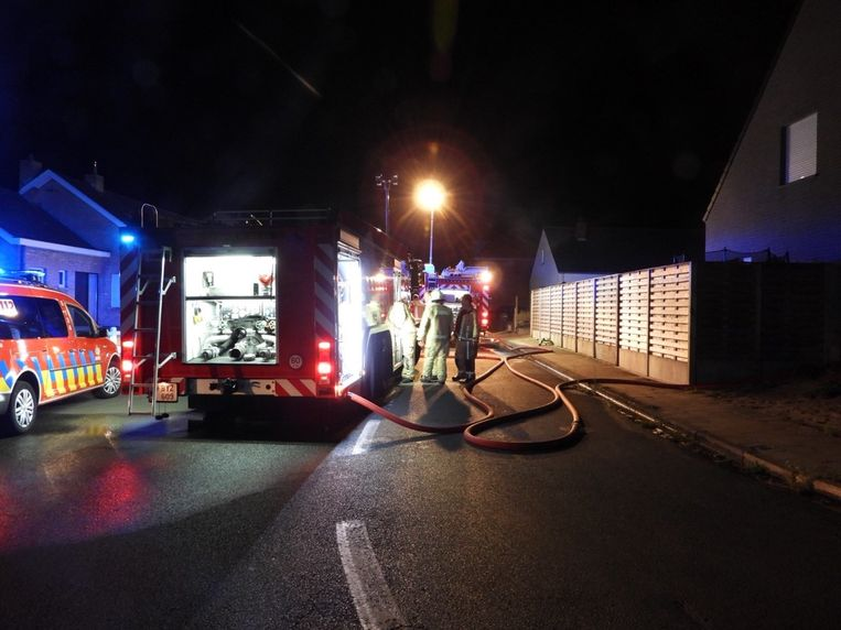 De brandweer was snel ter plaatse en kon de schade zo beperken.