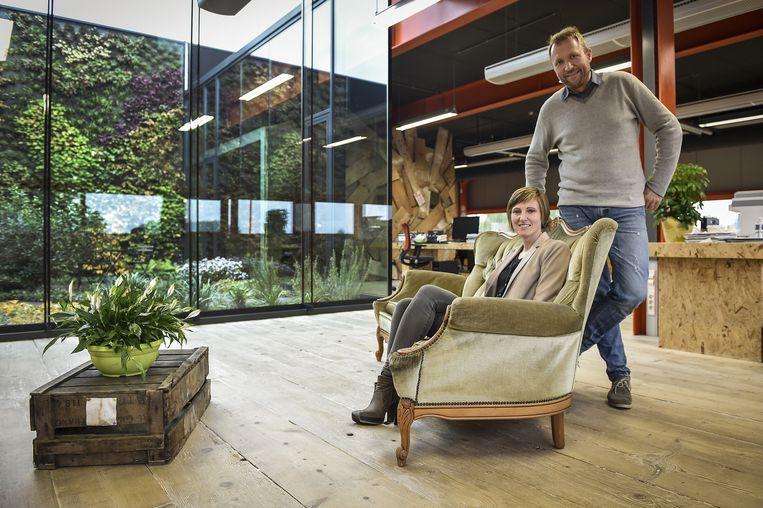 Leen De Clercq en Paul Borms in de Verffabriek.