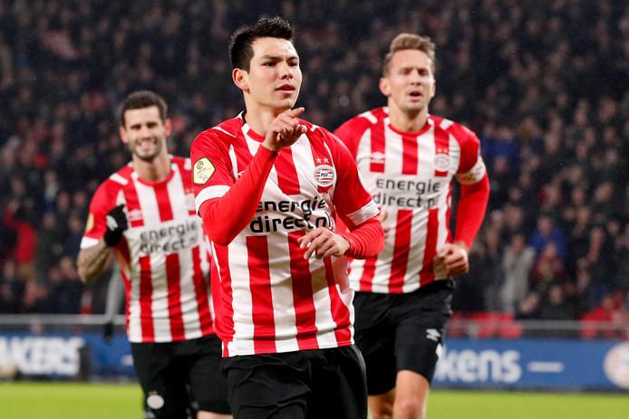 Hirving Lozano scoorde de eerste twee doelpunten.
