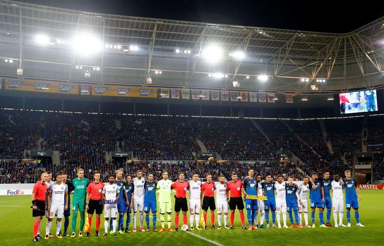 Een beeld van de Rhein-Neckar-Arena, die 30.000 plaatsen telt.
