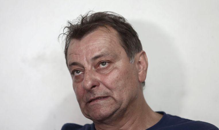 De Italiaanse terrorist Cesare Battisti gedurende een interview vorig jaar in São Paulo.