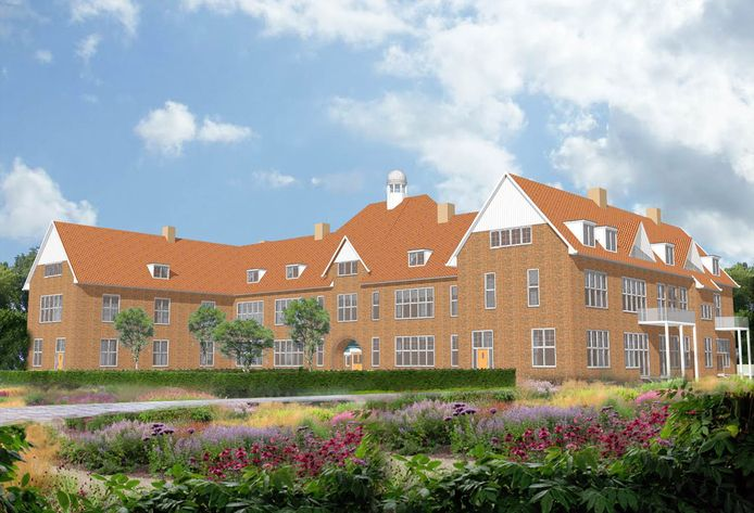 Artist's impression van de renovatie van de rijks-hbs in Brielle: moderne luxe, gecombineerd met authentieke details.