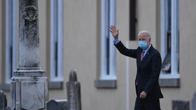 Biden met Democratische en Republikeinse leiders naar kerkdienst voor inauguratie