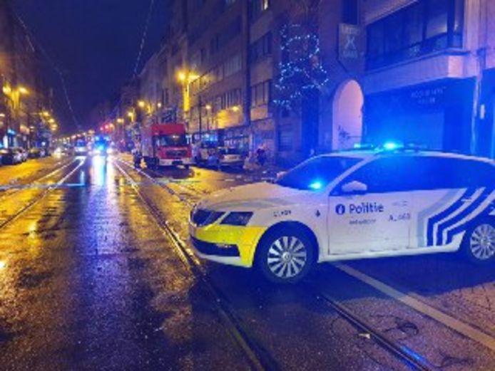 Illustratiebeeld: de politie op de Turnhoutsebaan in Antwerpen.