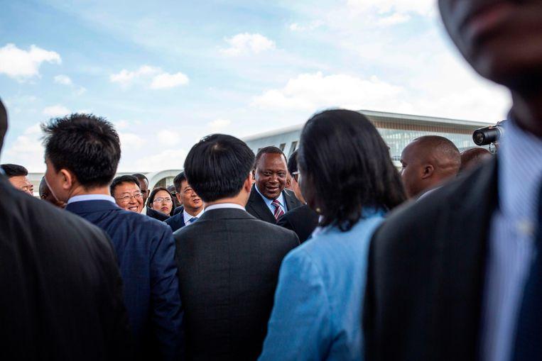 De president van Kenia, Uhuru Kenyatta. Beeld AFP