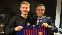 TransferTalk. Barça heeft De Jong beet - Duurste Buffalo ooit naar W.-Beveren - Standard plukt Raskin weg bij AA Gent