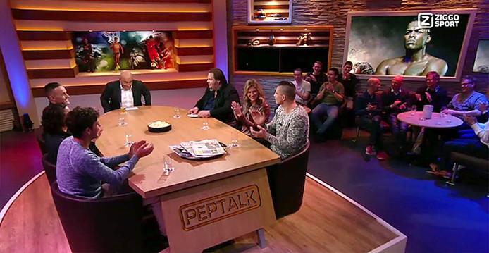 Rico Verhoeven in de uitzending van het Ziggo sportprogramma Peptalk. Still uit video Peptalk