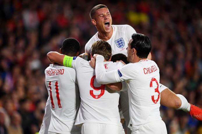 Vreugde bij Ross Barkley en de andere Engelsen.