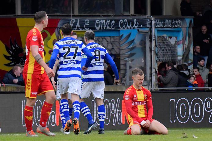 De Graafschap won in maart nog met 1-2 bij GA Eagles