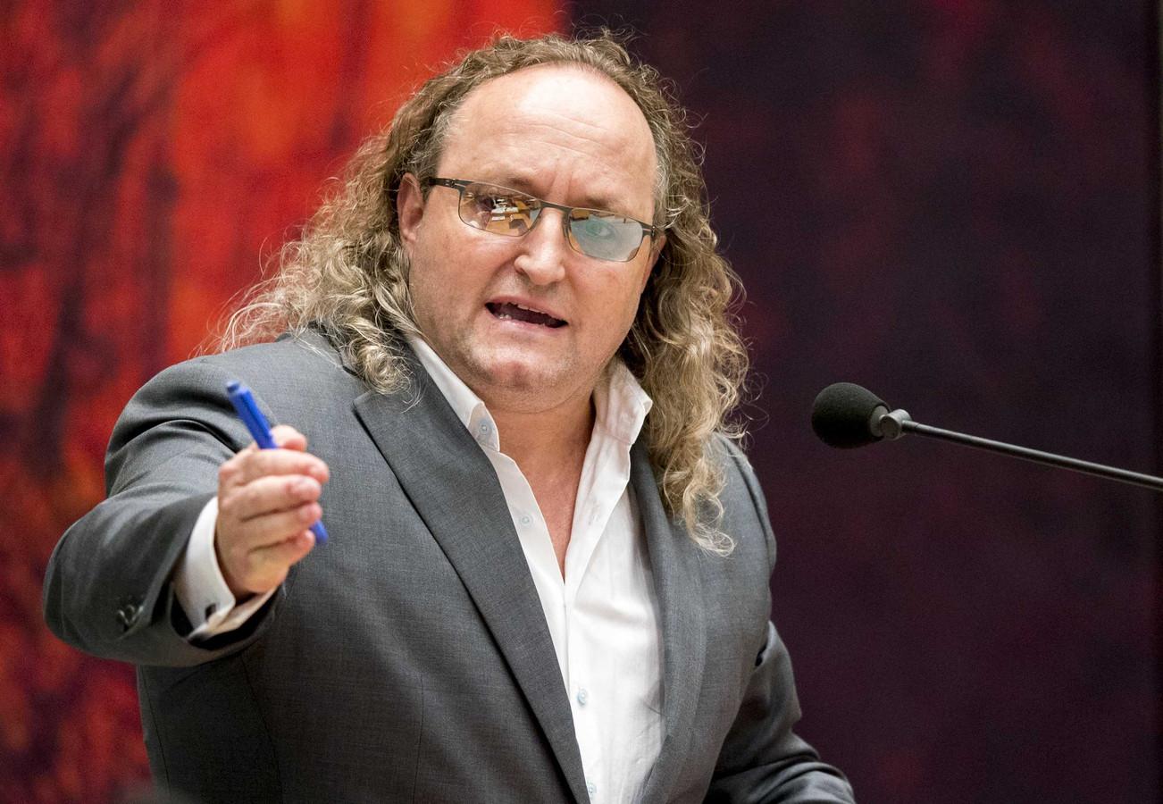 Dion Graus (PVV)  tijdens een debat in de Tweede Kamer