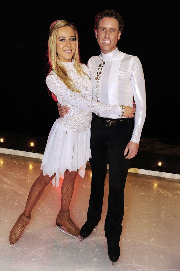 Boogerd bij Sterren dansen op het ijs met Darya Nucci. Beeld anp