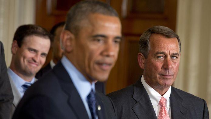 Barack Obama et le président de la Chambre John Boehner