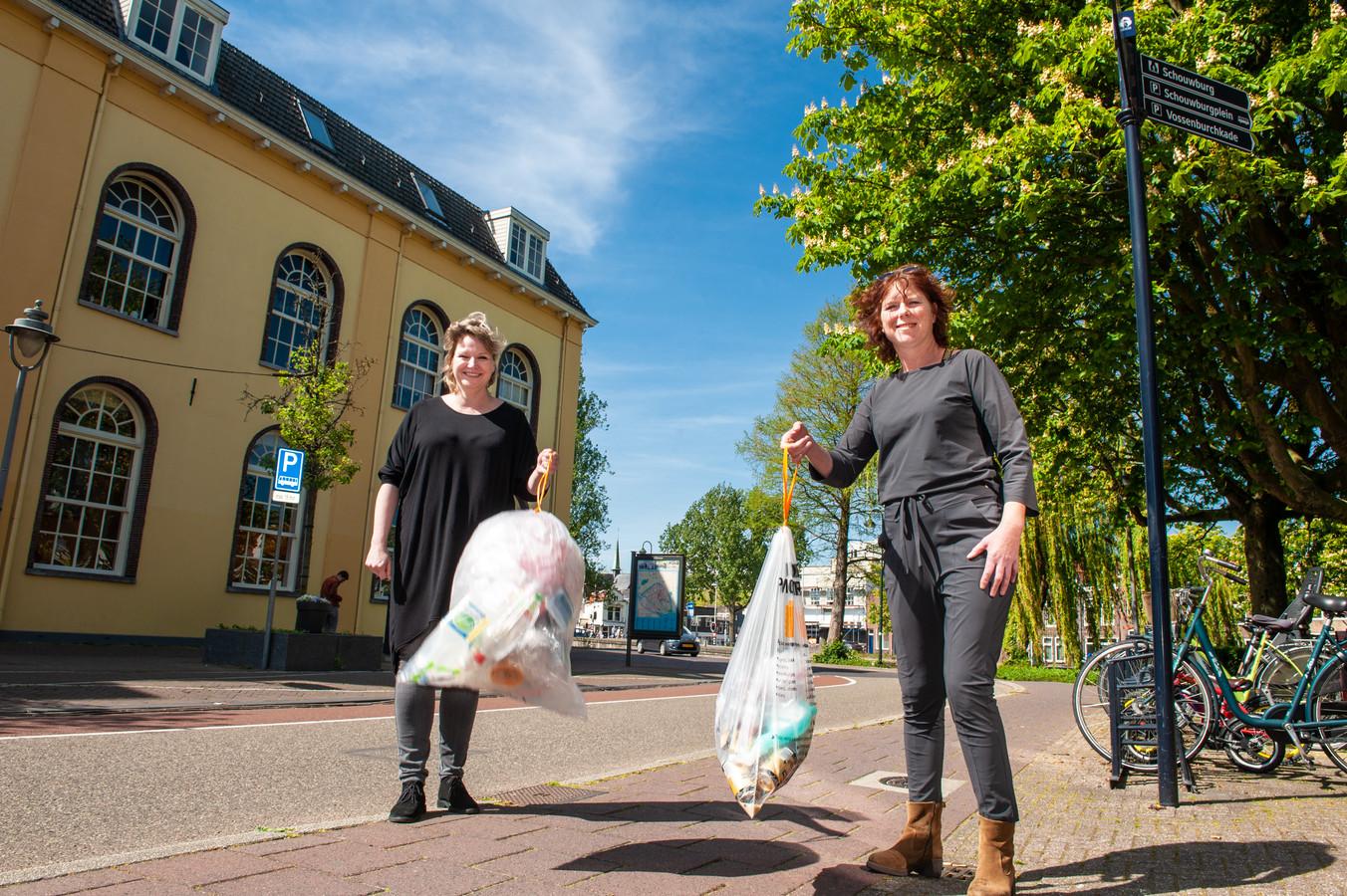 Goudse ondernemers Femke van Munster van de Cheese Experience en Denise van Gastel van de Bokkesprong, ook wel Buuf & Buuf.