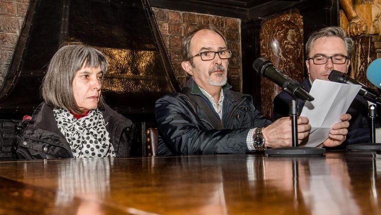De ouders van Hodei, tijdens een persconferentie in Antwerpen in 2016.