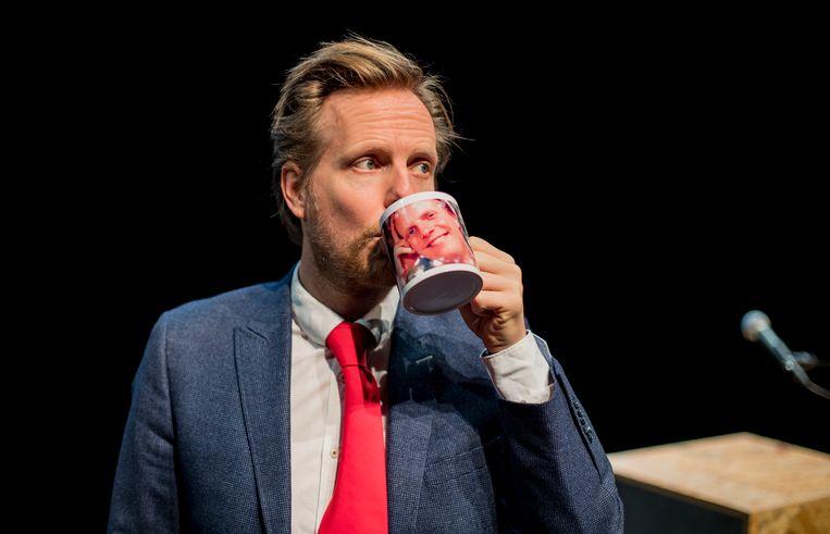 Cabaretier Patrick Nederkoorn in 'Ik betreur de ophef' Beeld Tom Cornelissen