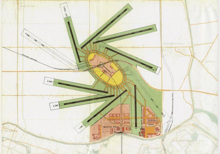 Het Plan Dellaert, 1947 Beeld Schiphol - biografie van een luchthaven