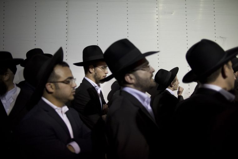 Protest ultraorthodoxe joden in Jeruzalem. Beeld getty