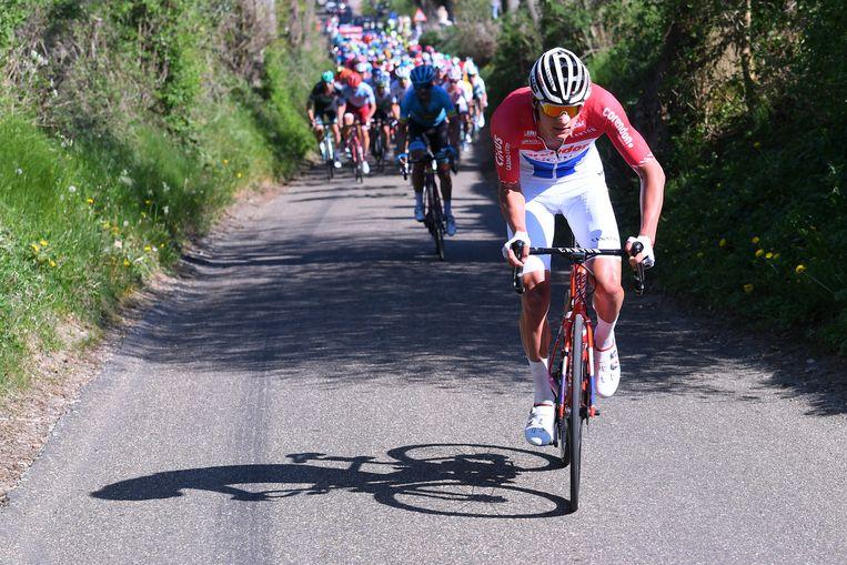 Mathieu van der Poel fietst in april van dit jaar iedereen eraf tijdens de Amstel Gold Race.  Beeld Belga
