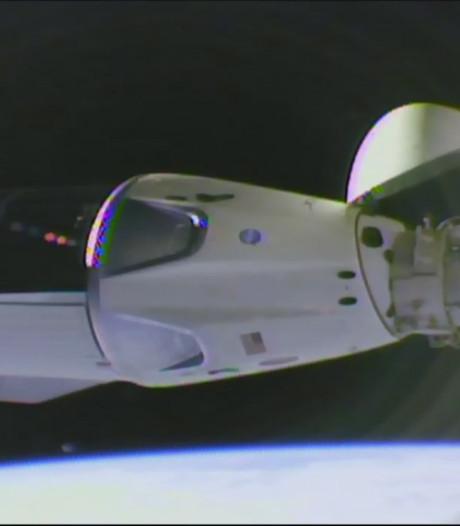 Capsule Crew Dragon succesvol gekoppeld aan ISS