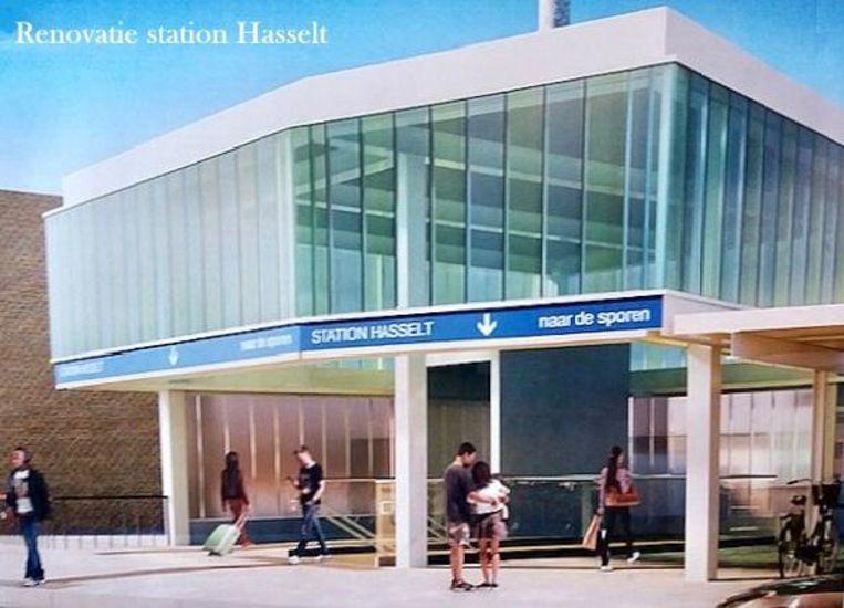 Zo zal de toegang tot het station aan de kant van Runkst vorm krijgen.