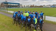 Met de fiets richting bekermatch in Brussel