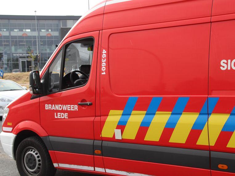 Signalisatiewagen brandweer Lede.