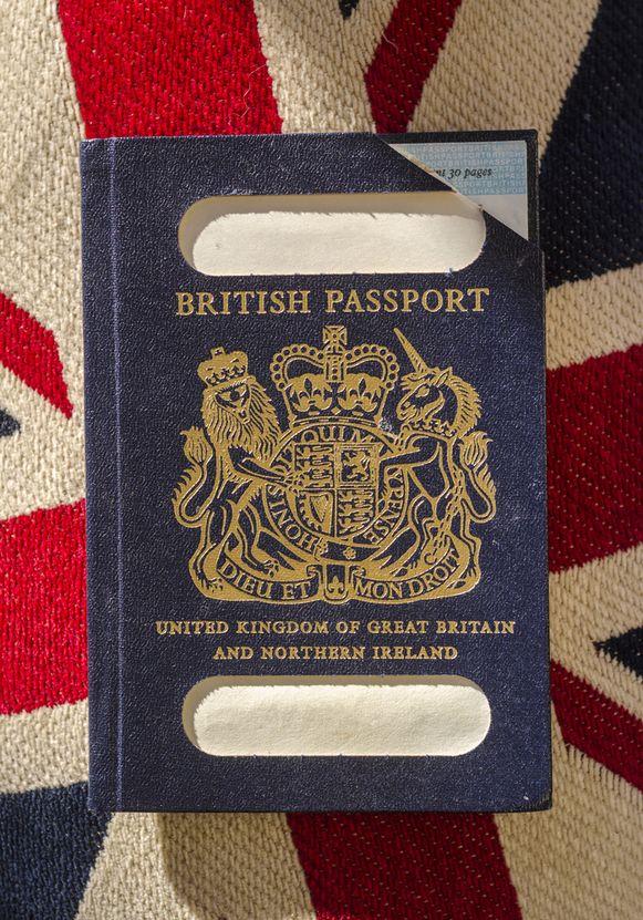 Het klassieke oude Britse paspoort.