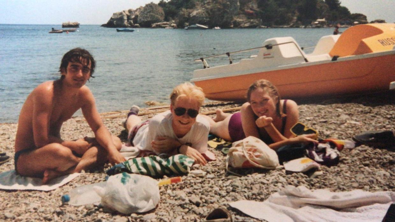 Angelo, Bart en Marjolein, Sicilië 1990. Beeld null