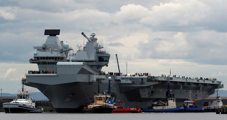 Het Britse vliegdekschip de HMS Queen Elizabeth. Groot-Brittannië zag eeuwenlang toe op de Europese machtsbalans. Zal de Brexit dat veranderen?