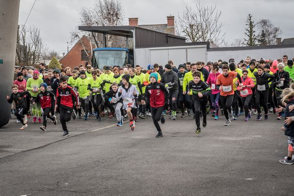 De massa daagde op voor de Urban Run.