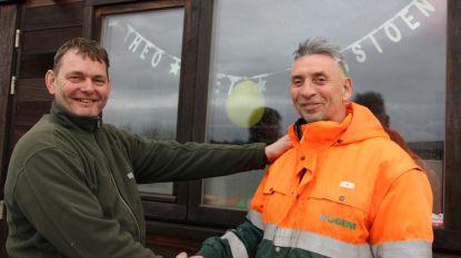 Recyclagepark zwaait parkwachter Theo uit