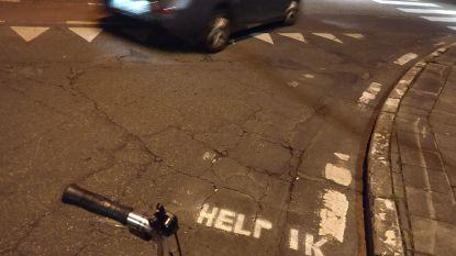 'Help ik fiets hier' op onverantwoord gevaarlijke gewestwegen!