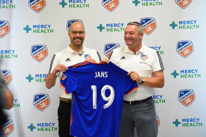 Gerard Nijkamp en Ron Jans (rechts) zijn na een succesvolle periode bij PEC Zwolle bij het Amerikaanse FC Cincinnati herenigd.