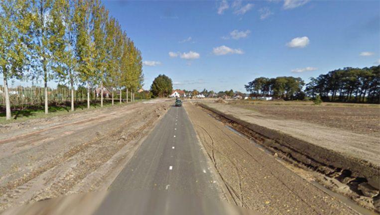 Een gedeelte van de Oisterwijksedreef in Haaren Beeld Google Street View