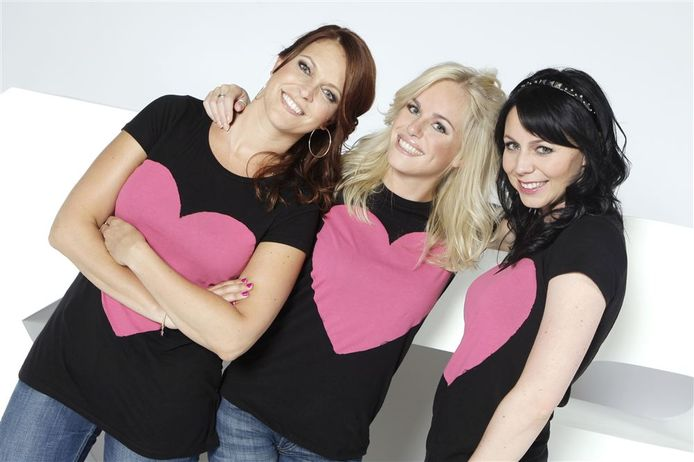 De 'oude' K3 met Karen, Josje en Kristel.