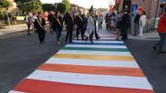 Schoolomgeving van Westerlo krijgt regenboogzebrapad